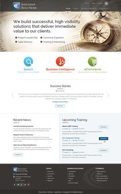 Create a visually compelling site design for an IT consulting firm by AxilSolutions
