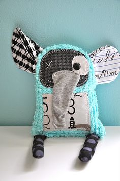 cute little stuff houndstooth elephant