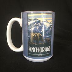 Anchorage Alaska Coffee Mug 16th Anniversary Gift Idea #TreeFreeGreetings