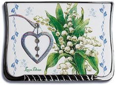 Lily of the Valley Compact Mirror in Gift Box - Roses And Teacups