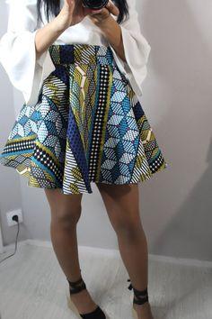 Articles similaires à Jupe patineuse jacquard-African skirt-Jupe afro bleu kinshasa-skirt wax-skirt-Wax circle skirt-Skirt sun wax-Handmade-Jupe Afro sur Etsy African Print Fashion, Fashion Prints, Fashion Design, African Attire, African Outfits, African Style, African Skirt, Love, Style Inspiration