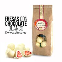 FRESAS CON CHOCOLATE BLANCO | un dulce detalle que encontraras en www.elteso.es