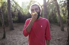 Model eating an apple. Moringa