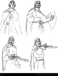 """Concept art of the gallant Phoebus from Disney's """"The Hunchback of Notre Dame"""" (1996)."""