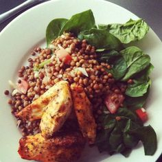 I had 15 minutes to get dinner on the table last night. So this is what I did – Cajun chicken and tasty lentils. Recipe Using Lentils, Best Lentil Recipes, Chicken Lentil, Whole Food Recipes, Dinner Recipes, Ways To Cook Chicken, Home Meals, Healthy Eating, Tasty