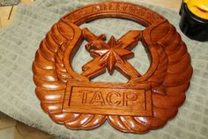 TACP Badge - Air Force Woodworking - Ta Wood And Vinyl http://tawoodandvinyl.com