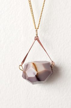 Quartz with Copper Bars Necklace on Gold Plated Curb Chain  {I am anxiously awaiting mine in the mail}