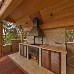 Backyard design ideas for your home. Landscaping, decks, patios, and more. Build the perfect outdoor living space Backyard Kitchen, Backyard Bbq, Design Eclético, House Design, Design Ideas, Barbacoa Jardin, Parrilla Exterior, Bbq Wood, Porch And Terrace