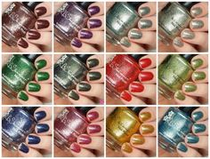 KBShimmer Birthstone 2016 Collection Swatches and Review Indie, Holographic, Flakes, Jelly, Monthlies, Birth Month, Gemstones