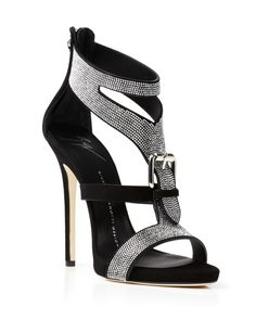 Giuseppe Zanotti Open Toe Evening Sandals - Coline Nailhead Stud High Heel | Bloomingdales's