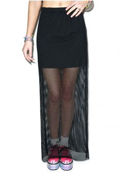 Evil Twin Always Attract Maxi Skirt