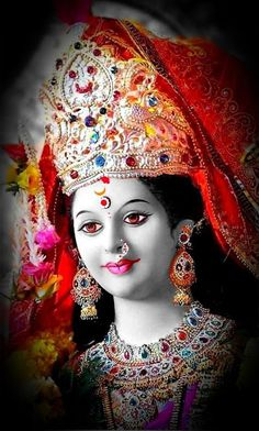 New Beautiful Latest Mata Ji Navratri Wallpaper And Wishes Collection By WaoFam. Durga Maa Pictures, Durga Images, Ganesh Images, Lakshmi Images, Lord Durga, Durga Ji, Lord Krishna, Lord Shiva, Maa Durga Photo