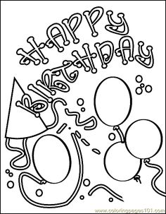 crayoLA birthday | free printable coloring page Birthday Coloring Page 12 (Entertainment ...