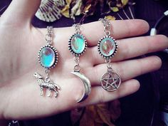 jewelry, moon, and necklace image