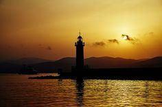 sunlight tower destination coast shore travel franse saint tropez view lighthouse rock wide yellow landmark punta scenery orange summer #SergeyProFineArtPhotography #ArtForHome #FineArtPrints #InteriorDesign #Landscape #Nature