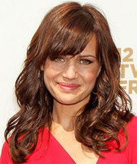 Carla Gugino Hairstyle: Casual Long Wavy Hairstyle