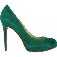 d0475a3b9940 Christian Louboutin New Simple 120mm Suede Pumps Olive Green Green Shoes