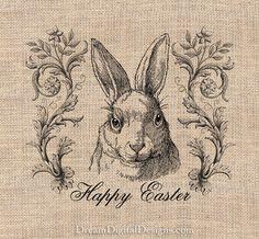 Happy Easter Bunny Rabbit Digital sofort-DOWNLOAD Nr. 263