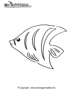 Sea Fish coloring pages | ... word free tropical fish coloring page this free ocean coloring page