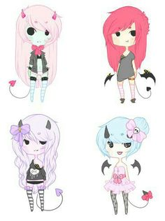 Pastel goth Which is your favourite? Mine is the purple one!