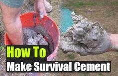 How To Make Survival Cement - SHTF Preparedness