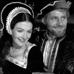 A Man for All Seasons - Vanessa Redgrave as Anne Boleyn and Robert Shaw as Henry VIII.