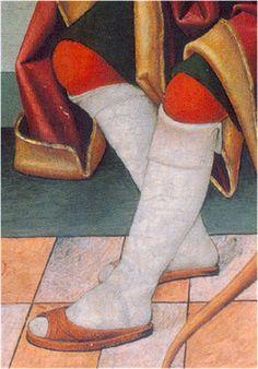 - OPUS INCERTUM -: 5.CALZADOS 1486. San Sebastián mártir, Juan de la Abadía, el viejo, Museo Lázaro Galdeano (procede del retablo de Aniés, Hues