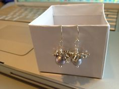 Lilac Silver Gray Pearl Earrings Pearl Jewelry Silver by Lilyb444, $30.00 Matching pendant on site, Can do this in any color Pearl, contact me!