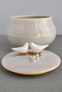 Love Birds ceramic keepsake box from Lee Wolfe Pottery now in stock