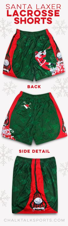 Dashing past the crease...in these festive lacrosse shorts!