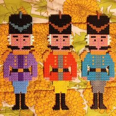 Nutcrackers hama perler beads by Binemor