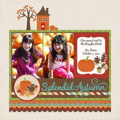 A Lori Whitlock Autumn Joy Digital Layout by Mendi Yoshikawa - Scrapbook.com