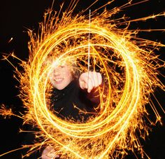 Have to have sparklers - practice with the camera before the party too so we can get some awesome pics