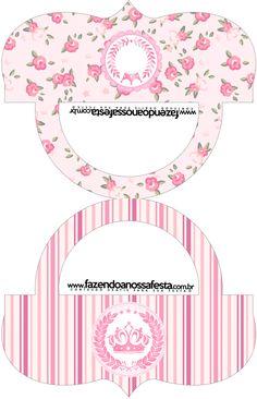 Sacolinha de Balas Bolsinha Coroa de Princesa Rosa Floral