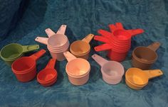 Tupperware Measuring Cups by YeahBabyVintage on Etsy