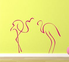 Pink Flamingos vinyl art graphic by wordsofdistinction on Etsy, $28.00