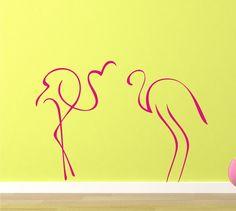 Pink Flamingos  vinyl art graphic by wordsofdistinction on Etsy, $28.00