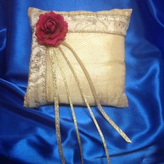Beauty and the Beast Inspired Ring Pillow by LilBlueHeart on Etsy
