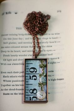 Tape Measure and Trim Rectangular Pendant by LittleBurrowDesigns, £17.00