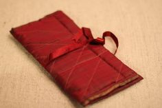 The Fold Once Jewelry Pouch by HandmadeBySheetaluk on Etsy