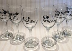 Give your top table a Disney twist by laying out one of these awesome Disney themed wine glasses for everyone – they can be personalised with each person's role in the wedding so they'll double up as place cards and fancy favours too!