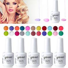 Elite99 Glaze Paint Soak Off UV LED Gel Beauty Personal Care Art Color Shiny Gel Nail Polish 15ML Finger Gel Lacquer Color