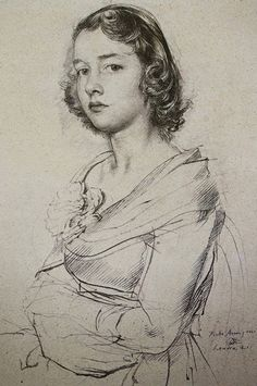 Gods and Foolish Grandeur: Portraits by Pietro Annigoni Pencil Art Drawings, Cool Drawings, Drawing Sketches, Pencil Portrait, Portrait Art, Female Portrait, Figure Drawing, Life Drawing, Sketch Painting