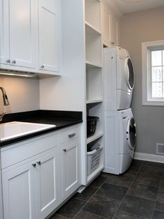 Stacked Washer And Dryer Laundry Room Design Ideas, Remodels & Photos