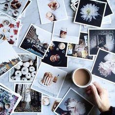 Идея для фото в инстаграм - фото, открытки, кофе, раскладка, flatlay #фото #вдохновение #кофе #идея