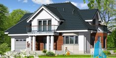 - 100989 28 septembrie 2017 Bungalow House Design, Mansions, House Styles, Home Decor, Automobile, Living Room Ideas, Bedroom, Decoration Home, Manor Houses