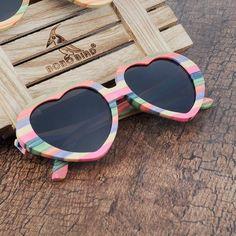 4ee4941d00 BOBO BIRD Heart-shaped Bamboo Sunglasses  travel  UV400  sunglasses  fun