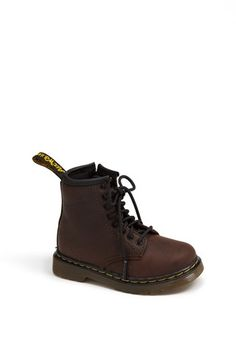 @Miranda Hale These totally made me think of you and your potential, some day, well-dressed small person.  lol. Dr. Martens 'Brooklee' Boot (Baby, Walker, Toddler & Little Kid) | Nordstrom
