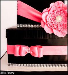 Bling gift box birthday cake