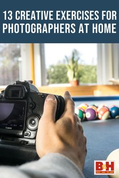 You don't need to leave the house to improve your photography skills! Check out these 13 fun and creative exercises you can do from the comfort of your own home. Creativity Exercises, Learn Photography, Own Home, Improve Yourself, Check, Creative, Fun, House, Haus